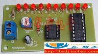NE555 CD4017 water lights pcb circuit production suite / DIY parts / teaching training Electronic Kits