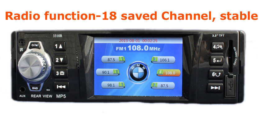 12V 3 inch Car MP5 Player Car Radio Receiver SD MMC USB FM Stereo In Dash