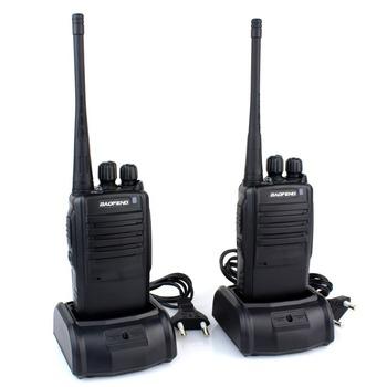 1 pair Walkie Talkie BF-388A UHF 400-470 MHz 5W 16CH Portable Two-Way Radio BAOFENG  Free Earpiece Black new A1024A Alishow