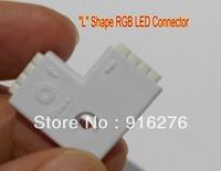 """L"" Shape RGB LED Connector adapter jack For 5050 3528 SMD Strip light Lamp"