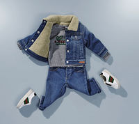 Retail Brand Boy's Padded Jacket+Pants/Children's Woolen Hoodies Sweatshirts+Trousers/Boy's Casual Clothes 2In Sets