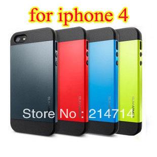1 piece /lot Free Shipping!!! top sale  SLIM ARMOR SPIGEN SGP Case Color Cover For iphone 4 4s case luxury,new arrivals