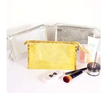 7400 translucent double layer waterproof bag cosmetic bag at home travel wash bag multi purpose storage general