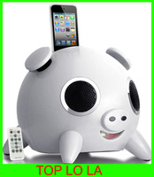 Free Shipping Pig Speaker Music Player for iPhone iPod iPad Touch iPig 2.1 Stereo Docking