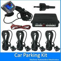 10PCS/LOT Waterproof Dual CPU System Colors LCD Display Car Parking Radar System Kit With 4 Alarm Sensors For Vehicle Backup
