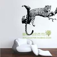 Free Shipping Leopard spots wallpaper decoration glass decoration W045