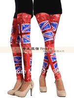 British flag graffiti red tie-dye leggings 9 points tights 10pcs/lot