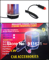 Car Warning Light Led Red and Blue Color Decoration Lamp Led Car Flash Lamp Auto Emergency  Strobe Lights