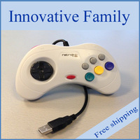 Free shipping Support Mac Sega Controller Sega saturn usb controller PC contrller Classic Style poly bag package white