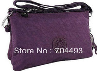 FREE SHIPPING   small shoulder brand  kip  women  messenger bag with 3 big compartment 5pockets