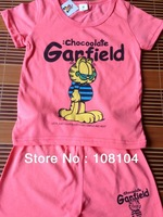 Free shipping, Children's wear garfield clothers,kids suit(yu2013003)