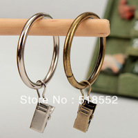 50set 3.8CM diameter ROUND Cloth zakka high quality curtain ring metal curtain clip laundry folder belt clip curtain ring  B203