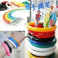 Free shipping!  Ball point wristband non-transparent Bracelet pen ,Office supplies,Stationery, mixed color 20pcs/lot