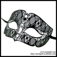 MD005-BK Free Shipping Man Mask Design Venetian Metallic Laser Cut Man Masquerade Ball Masks No Rhinstones