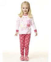 peppa pig cartoon 2014 winter pink baby girls cotton pajamas two-pieces suit Free shipping (1set) retail 3~7age kid apparel