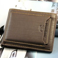 Genuine Cow Leather Men's Bifold Wallet Purse Card Clutch Cente Bifold billfold 160021