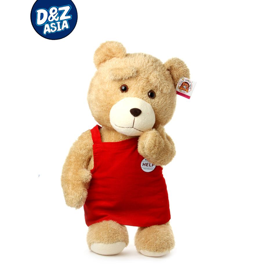 Wretch Bear TED moive Plush Dolls Man's Bear Stuffed Plush Toys Birthday Christmas(China (Mainland))