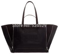 Free Shipping vintage lady leather handbag shoulder messenger fashion bucket rivet big tote bags for women casual cross-body hot