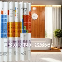Free shipping 1Piece 71 inch Big Bang Theory Shower Curtain / Sheldon Chemical Shower Curtain 180cm*180cm