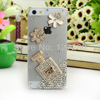 free shipping perfume rhinestone mobile phone accessory mobile phone case for phone 4 /4s / 5