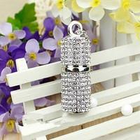 Free Shipping / Cylindrical diamond jewelry    U disk 16G/ 32G /64G / 128G / genuine special  / USB Flash Drives   U009