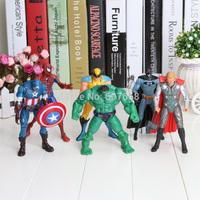 30set/Lot DHL The Avengers Iron man Hulk Thor Captain America Black widow Figure super hero 6pcs/set Marvel superhero