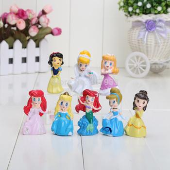 Princess Ariel 3cm 1.2'' High Quality Cute Cinderella Snow white Belle Cartoon Figure Toy doll