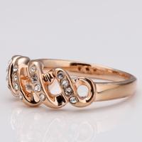 18k Gold Plated Rings High Quality Rhinestone Crystal Music Engagement Ring Wholesale Prata Fashion Jewelry 18krgpr010