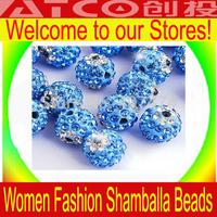 Free Shipping 10MM Promotion Optional Color Clay Shamballa Beads 200pcs/lot Clay Evil Eye Crystal Shambala Ball Bead