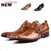 2013 new arrival men's luxury genuine leather Pointed print shoes,men's oxford dress black brown  shoes,free shipping,promotion