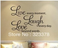 Export Wholesale Love Word Quote Letters Decal DIY Text Window/Drawing Room Decor Wall Sticker Vinyl Word Art DecalFreeShipping