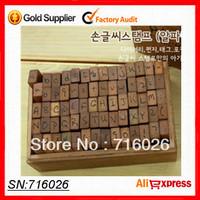 Free shipping,70pcs/set, 2 typeface Creative Lowercase Uppercase Alphabet wood rubber stamps set Wooden box, Decorative DIY work