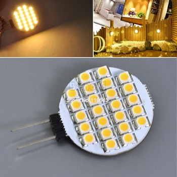 15pcs/Lot Wholesale G4 24 SMD LED Marine Camper Car Bulb Lamp 12V Warm White Light  875