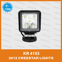 "Motorcycle 4"" 15W Epistar Chips Spot & flood beam led Working Light for Off-road ATV SUV Mining truck Motor 1150 Lumen KR4153"
