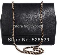 Free Shipping new Woman famous Brand PU Leather Designer black envelope bag messenger crocodile fashion shoulder chain tote bags