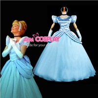 New Arrival Cinderella Princess Dress Movie Costume dress Party Dress  For  Halloween