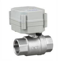 DN20 full port DC5V Motorized Ball Valve 3/4'' SS304 NPT/BSP 2 wire controlled with indicator  for water control system