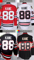 Chicago #88 Patrick Kane Men's Authentic Home Red/Road White/2009 Winter Classic Black Hockey Jersey