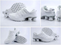 cheap Mens Shox NZ shoes white&silver patent,ATHLETIC SHOES
