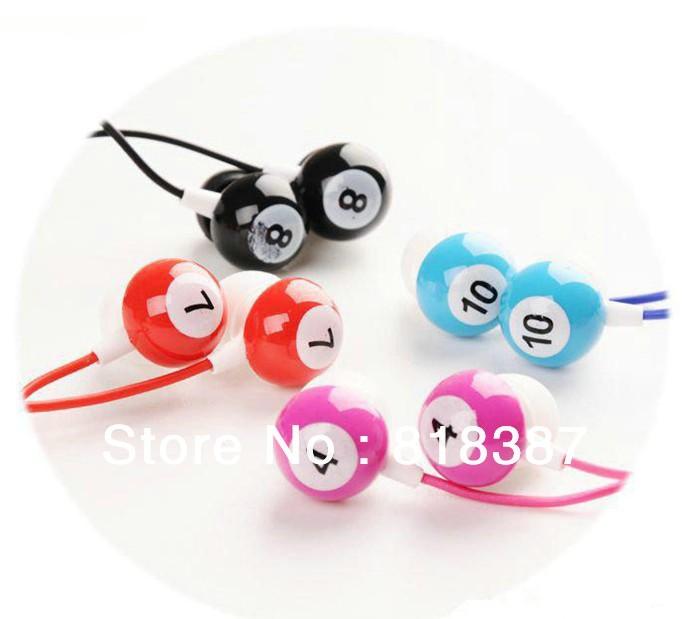 Lose money promotion table tennis snooker Billiards earphone in ear headphones & headphones earphones Free Shipping 100pcs/lot(China (Mainland))