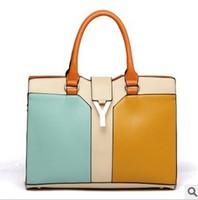 women messenger bag fashion handbags dual function pu Mosaic Sheet metal Hasp large big bags  punk