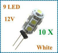 10pcs/lot G4 9 White SMD LED 5050 Light Home Car RV Marine Boat Lamp Bulb DC-12V Wholesale