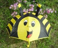 2014 promotion new non-automatic 48-53cm radius children kids umbrellas parasol bee kids childrens cartoon animal free shipping
