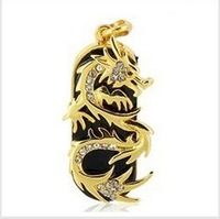 Dragon Pendant Keyring Model USB Flash Memory Pen Drive Stick, free shipping 1GB 2GB 4GB 8GB 16GB 32GB Ub20