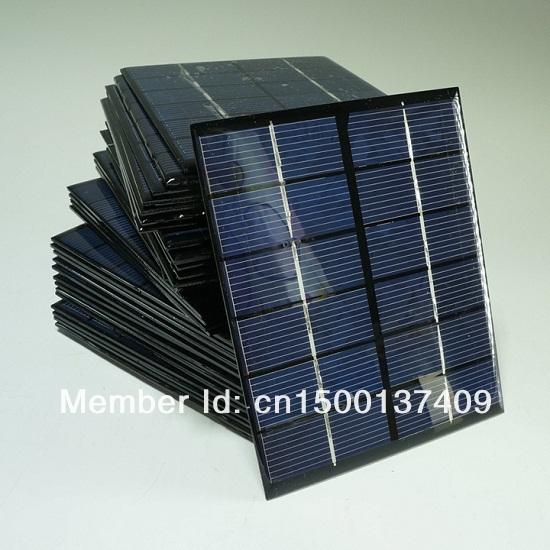 High Efficiency! Mini 2W 6V Solar Cell Polycrystalline Solar Panel Solar Module DIY Solar Charger 330mA 136*110 Free Shipping(China (Mainland))