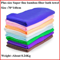 Free Shipping   8 Colors 70 * 140 cm Plus Size Super Fine Bamboo Fiber Adult Super Absorbent Towel Baby Kids Bath Towel