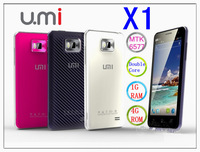 "Free shipping UMI X1 MTK6577 4.5"" HD 1280x720 Android 4.0 4GB ROM + 1GB RAM camera 8.0MP with GPS 3G Smartphone in stock"