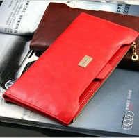 Best Selling Fashion Lady Wallet Pu Leather Purse Women Clutch Bag Solid Color Free Shipping 180019