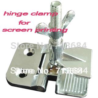 Simple SS Hinge Clamps Tool For Silk Screen Printing screen press