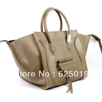 free shipping discount Clenie brand Boston Togo Cream Leather Bags for sale Womens Classic Bags